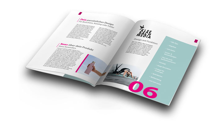 Broschüre oder Katalog gestalten lassen